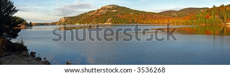 North shore of George Lake at October's Day. - stock photo