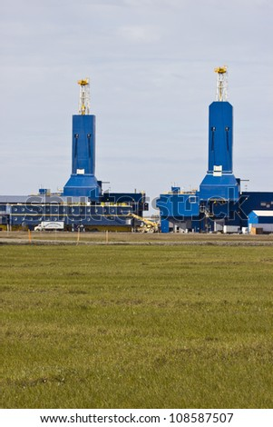 north slope rig 5 - stock photo