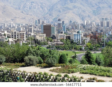Northern area of Tehran city - stock photo