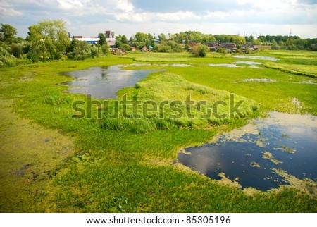 Northern Dvina River in Arkhangelsk - stock photo