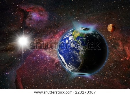 "northern light""Element s of this image furnished by NASA  - stock photo"