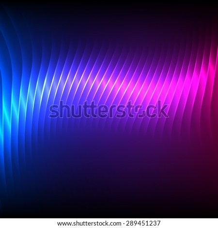 Northern lights background of bright glowing blur lines. Futuristic style glow neon disco club or night party. Gorgeous graphic image template - stock photo