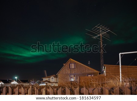 Northern Lights Iceland - stock photo