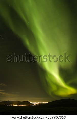 Northern lights, Iceland / Northern lights  - stock photo