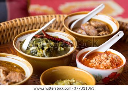 Northern Thai food. Lanna style.  - stock photo