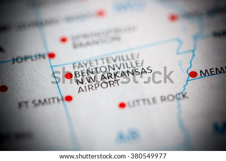 Northwest Arkansas Airport. Arkansas. USA - stock photo