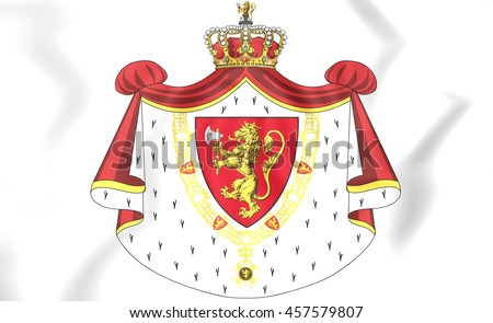 Norway Coat of Arms. 3D Illustration.    - stock photo