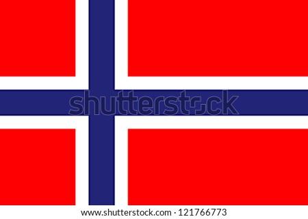 Norway flag - stock photo