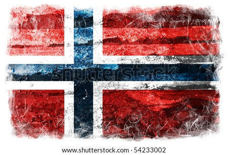Norway grunge flag - stock photo