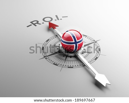 Norway High Resolution ROI Concept - stock photo
