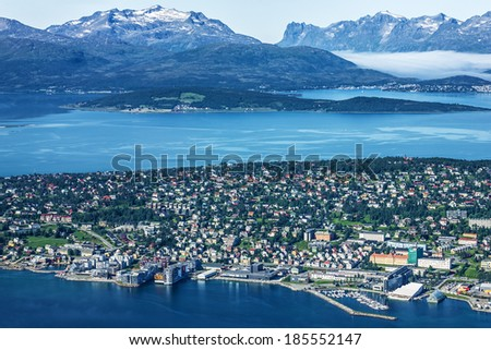 Norway: Tromso - town beyond Arctic Circle - stock photo