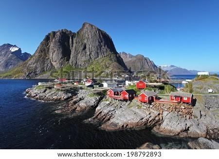 Norway village Reine - stock photo