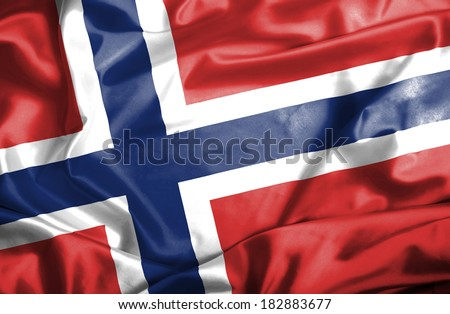Norway waving flag - stock photo
