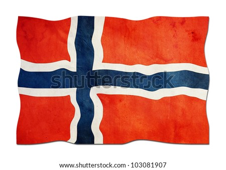 Norwegian Flag made of Paper - stock photo