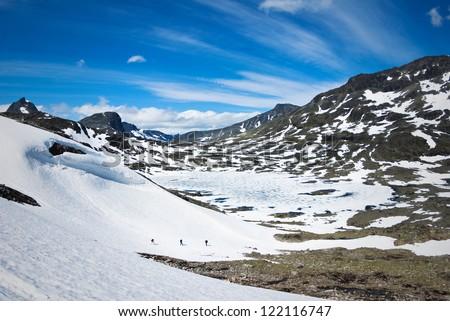 norwegian landscape - stock photo