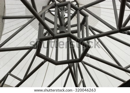 Norwich Bus Station Roof - stock photo