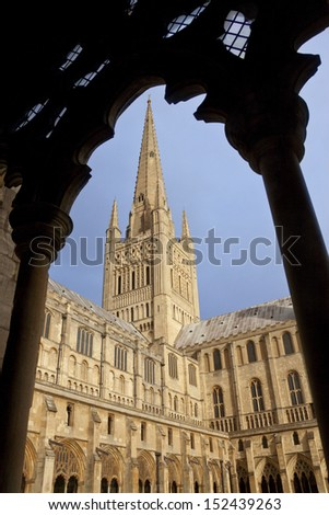 Norwich Cathedral - Great Britain - stock photo