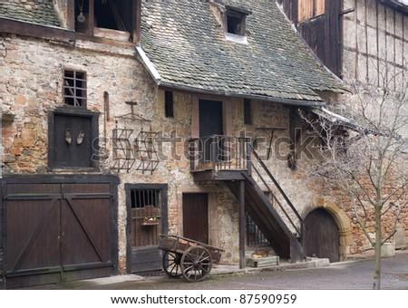 nostalgic farm house detail in Colmar (Alsace/France) - stock photo