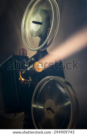 Nostalgic film projector  - stock photo