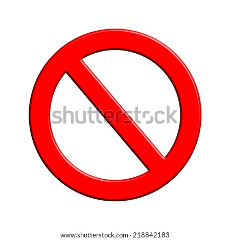 Not allowed - stock photo