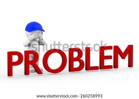 Not see problems - stock photo