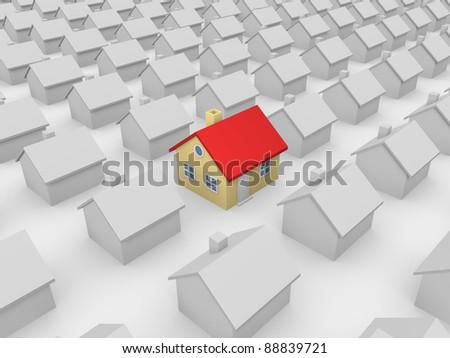 Notable house - stock photo