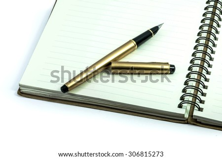note book and pen  - stock photo