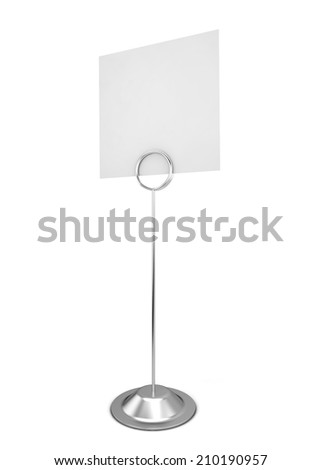 Note holder. 3d illustration isolated on white background  - stock photo