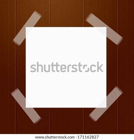 Note on wood background - stock photo