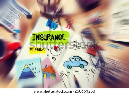 Note Pad and Insurance Planning Management Concept - stock photo
