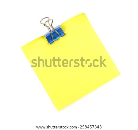 note paper and clip - stock photo