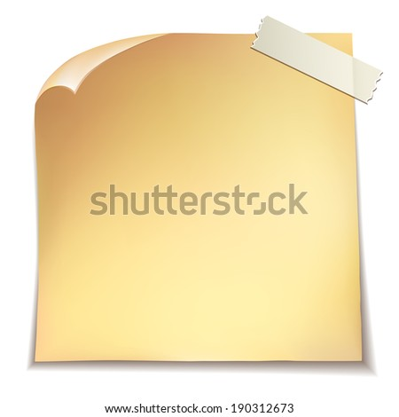 Note paper on white background. - stock photo