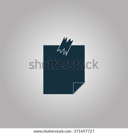 Note Papers. - stock photo