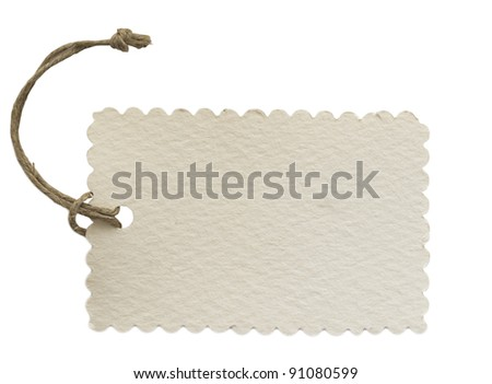 note with string - stock photo