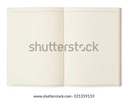Notebook Blank notebook isolated on white - stock photo