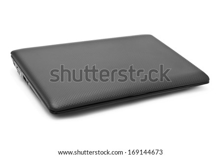 Notebook computer isolated on white background - stock photo