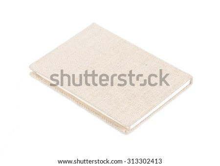 notebook front cover isolated on white background. - stock photo