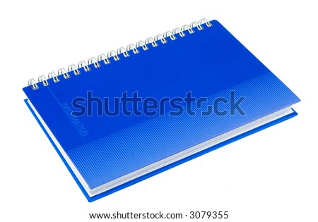 Notebook, isolated on white - stock photo