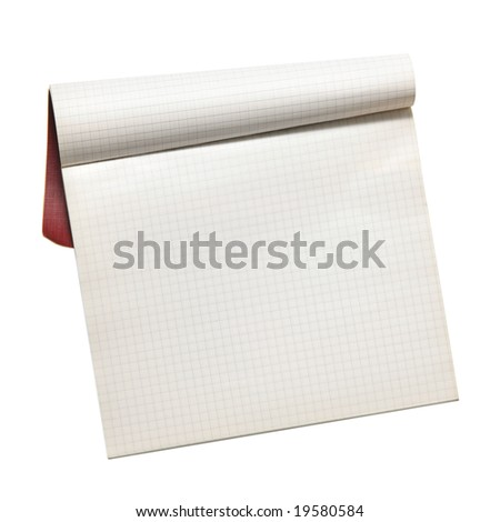 Notebook isolated over white background - stock photo
