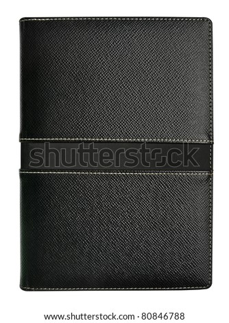 notebook isolated with clipping path - stock photo