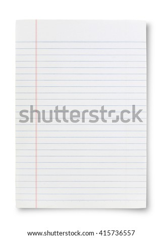 Notebook Lined Paper Background Or Texture - stock photo