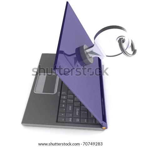 Notebook Lockable - stock photo