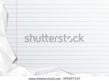 notebook paper background with mint paper - stock photo