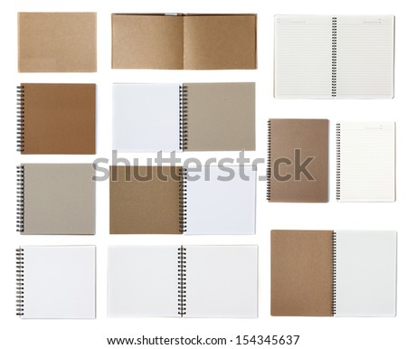 Notebook paper isolated on white background - stock photo