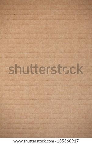 Notebook sheet paper texture - brown paper sheet - stock photo
