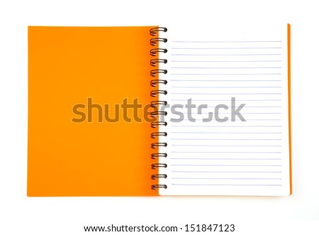 notebook spiral bound isolated on white background - stock photo