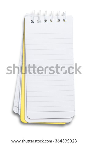 Notebook. textured isolated on the white background - stock photo