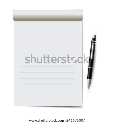 Notebook with a pen - stock photo