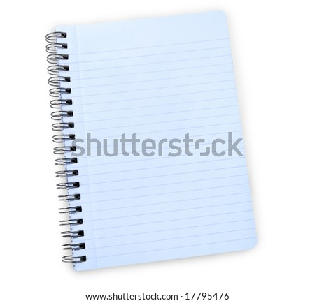 notebook with clipping path - stock photo