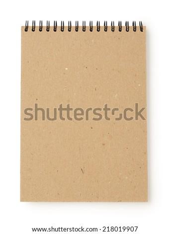 Notepad isolated on white background  - stock photo